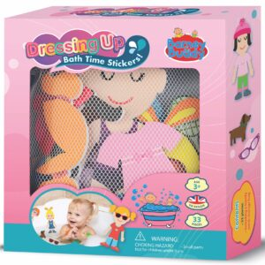Dressing up - Mix and match different combinations to make up some fun characters with these bath stickers! 33 pieces.