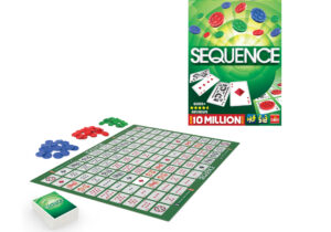 With a little strategy and luck, you can be a Sequence winner! The classic and addictive game to challenge your family and friends. Check your cards and place your chips, when you have 5 in a row, that's a Sequence!