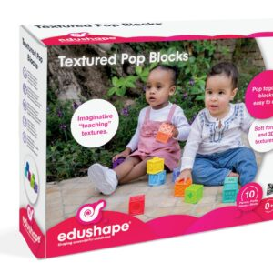 The award-winning Edushape Textured Pop Blocks, are a colourful collection of 10 interlinking and tactile cubes that can be used from birth. With a soft form and 3D textures, these nifty little blocks are fascinating to touch and chew.