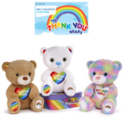 In partnership with NHS Charities Together, Posh Paws have developed a range of super-soft bears and a percentage of the sale of each bear will be donated to the charity. The bears play sound.