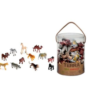 The Terra Wild Animals Tube are a complete collection of 60 assorted mini wild animal figures. Each animal is realistic and high quality. Perfect for counting and sorting. Packaged in a handy storage tube. Suitable from 3 years.
