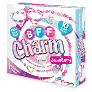 Make your own personalised BFF Charm Jewellery to wear and to share! Thread together 10 metal charms and alphabet beads to create beautiful jewellery for you and your best friends. Includes step-by-step instructions and over 300 beads.