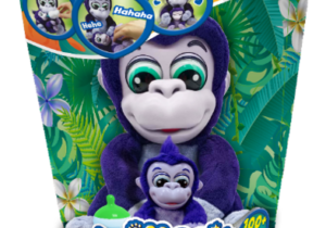 Meet Animagic's newest little family, Tiki & Toko! This adorable Gorilla duo have over 100+ sound and movement sequences and can be played with both together and separately. Tiki & Toko are the interactive duo who love to monkey around.
