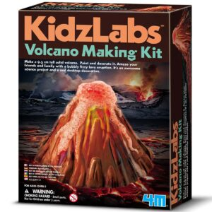 Make a 9.5 cm tall solid volcano. Paint and decorate it. Amaze your friends and family with a bubbly fizzy lava eruption. Learn about chemical reactions. It's an awesome science project!