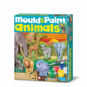 Mould and paint wild animals plaster fridge magnets and badges. They are great gifts for friends and family!