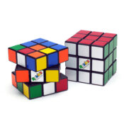 The Rubik's Cube is a classic colour-matching puzzle that can be enjoyed at home or on the move. The original, classic 3×3 Cube is a highly addictive brain teaser that has fascinated fans all around the world for decades.