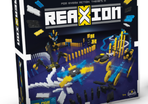 Build the ultimate domino track with ReaXion. The X shaped tiles allow you to connect them together or use the linX connectors to create even larger constructions. Add in the additional stunts for maximum effect. Now time for the destruction!