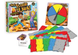 Turn every floor into an exciting lava jumping adventure with the Floor is Lava game. With a spinner, coloured foam tiles and action cards, ramp-up the fun on this classic game of imagination and adventure. Remember, DON'T TOUCH THE FLOOR!