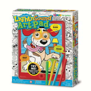 eature-packed doodle kit with flashing eyes, sound effects and coloured pens to create your own designs. Contains a 16 page colouring booklet, felt pens and instructions. Makes various animal sounds.