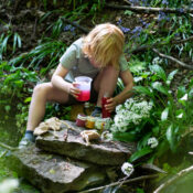 Children can take our Portable Potion Kit on an outdoor adventure and collect any special petals, leaves, grasses or soil to add to the ingredients in this bestselling kit to create a marvellous mixture of their own making.
