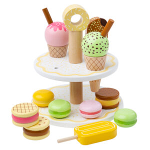 Spark hours of imaginative play with this delicious set of Sweet Treats, perfect for serving up an afternoon tea for friends and family, stocking up your play kitchen or selling in your shop.