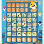A talking and tactile bilingual educational alphabet tablet, with the heroes of Baby Shark, which is perfect for the youngest. This interactive tablet enables the discovery of numbers, letters, words, with their spelling while having fun with quiz and music.
