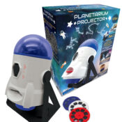 The 360° planetarium projector transforms your ceilings and walls into an outer space light show! It displays both constellations and space pictures on almost any surface, and has a booklet included to discover all the secrets of space.