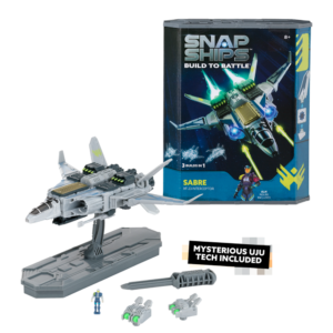 Snap Ships is a versatile building system for creating spacecrafts with multiple builds and real shooting weapon play. All sets and pieces are interchangeable, so kids can build however they want. Build to battle with 10 sets to choose from.