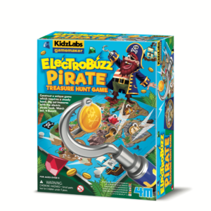 Contruct a unique game from the GameMaker series which requires a steady hand! Dig out treasures with the electric pirate hook. Watch out, it buzzes!!