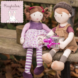 A beautiful collection of British designed toys and gifts for newborn's and young children. Each product is made from gorgeous hand-picked fabrics and the softest velour, for a gift range with true heritage.  Suitable ages 0+.