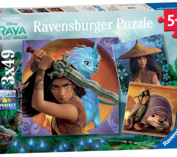 This 3x 49pc puzzle set is just one of many puzzles and games in our range, featuring the characters from Disney's Raya and the last Dragon, released in cinemas in March 2021. A fun and colourful set of puzzles