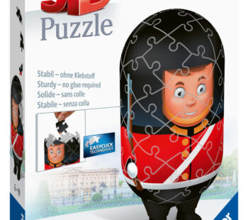 This puzzle uses unique plastic pieces, which slot together to build a sturdy and strong model. No glue required! The Royal Guard 3D Puzzle comes in 54 piece and measures 12 x 5cm when complete