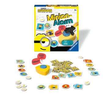 "Ready, steady, BANANA! Start the timer and while the mischievous Minions laugh, flip and match Minions cards! When the laughter stops, it's ""BAAH! BANANA?"" time and you might just lose your bananas!"