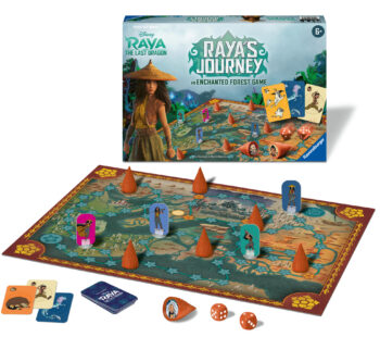The kingdom of Kumandra was once created by dragons. But now they are gone and the world is out of whack. Raya sets out in search of the last dragon in this fun family game based on Enchanted Forest.