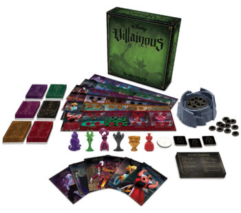In this epic contest of sinister power, take on the role of a Disney Villain. To win, you must explore your character's unique abilities and discover how to achieve your own story-based objective. Expandalone games available.