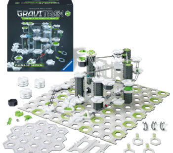 GraviTrax goes vertical with the GraviTrax PRO Starter Set. With 149 elements that include unique components, this set offers everything you need to begin building your own vertical action-packed track systems.