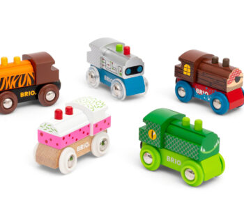 Find your favourite train in the Themed Train Assortment. Could it be the shiny robot train, the cheeky crocodile train or the cute cupcake train? There's a whole selection of fun and playful toy trains to collect.