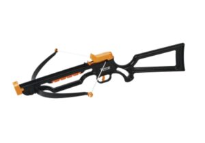 The ultimate target Crossbow, where accuracy matters. Looks and feels like a real crossbow, but shoots sucker darts. Features front and rear sights for accurate aiming. Includes 12 super safe sucker darts. For ages 14 and over.