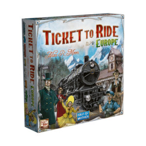 This standalone variant of the original Ticket to Ride adds ferries, tunnels and stations as players race to connect cities and fulfil tickets across Europe. It's easy to learn and endlessly replayable.