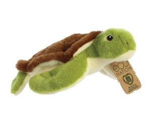 Eco Nation is our gorgeous range of super-soft recycled plastic soft toy product range. Each animal is made from approx 8 x 500 ml of recycled plastic bottles. We have removed the beans and embroidered the eyes.