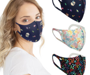 Aurora Cares is our fashion face mask brand. The masks are made from a breathable Neoprene patterned material and are reusable and washable. They offer protection to help reduce the transmission of vapour droplets.