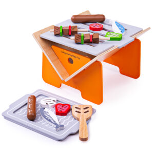 This BBQ comes complete with wooden food and a spatula to ensure even cooking during pretend play sessions. It folds away flat for easy storage. 3 Years +