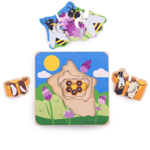 Discover the lifecycle of the honeybee with our layered puzzles. Piece together and discover each lifecycle stage as little ones pull away each layer. Each puzzle has four lift out layers.