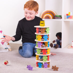 New to our games range for 2021, Tumbling Teddies! Stack the layers of coloured teddies and take turns removing them without letting the tower fall. Great for independent and group play. 3 Years +