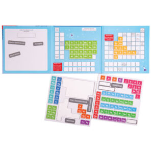 Teach little ones all about the periodic table in a fun & engaging way! Book includes sorting games, information about different elements & 2 sheets of magnets to help aid the learning process.