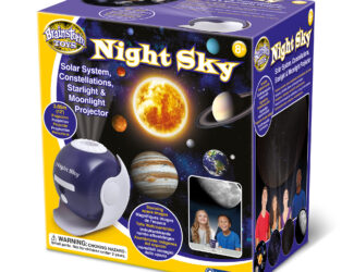 Learn about the night sky with this awe-inspiring projector. Includes four incredible projection discs. View the planets of the solar system, constellations, the moon or over 20,000 stars. Project pin-sharp images over 3.5 metre wide. Includes online space facts.