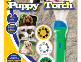 This fantastic projector torch projects amazing images of gorgeous puppies around your room. Includes three slide discs with 24 colour puppy photographs which project up to one metre wide on your walls and ceilings including dalmations, pugs, labradors and more.