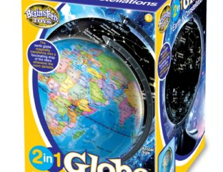 Earth by day – space by night – 2 globes in 1! Unique 22.8cm, detailed globe shows earth by day and transforms into a stunning constellation map of the stars at night.