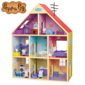 This delightful version of Peppa's home is crafted from FSC® certified wood, and features eye-catching and colourful designs, which stay true to the classic Peppa styling. It comes with 25 accessory parts and eight rooms across three floors to enjoy.