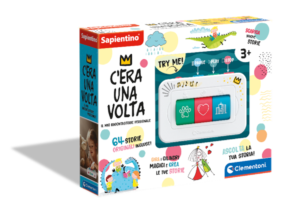 A magical interactive storyteller with more than 60 different preloaded stories as well as the option of adding more. Kids can choose the character, setting and plot by turning the coloured rollers giving a different story each time!