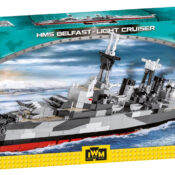 HMS Belfast - Light Cruiser Historical Collection 1:300 scale model, Imperial War Museum license