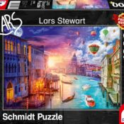Day turns to night in this jigsaw! A beautiful depiction of the city of Venice from Lars Stewart.