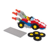 GO! is a new element that brings motion to the Plus-Plus building experience. This set comes with 240 pieces, 4 reversible wheels, baseplate chassis and a guide book. There are 4 GO! sets available.