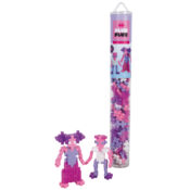 Available in both tubes containing 100pcs and 240pcs. These reusable, travel-friendly containers contain Glitter Pink, Glitter Purple, White, Pastel Pink and Pastel Purple construction pieces and instructions.