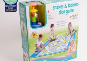 Extra large sized snakes & ladders play mat, fun for all the family. Suitable for indoor and outdoor use.