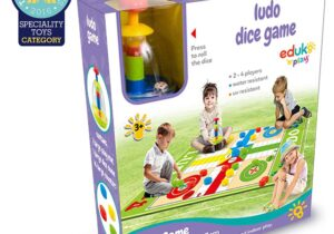 Extra large sized ludo play mat, fun for all the family. Suitable for indoor and outdoor use.