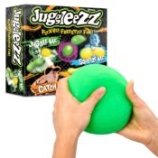 Create the craze with Juggleezz! The Juggleezz Ball is super-stretchy and can be wrapped into different shapes, making it fun to throw and cool to catch. Its innovative, versatile texture makes it perfect for tricksters and fidget toy lovers alike.