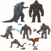"""It's a battle for the ages, as Flair introduces the epic MonsterVerse Godzilla vs. Kong movie figure collection. Fans can use the 6"""" and the 11"""" Giant articulated figures to recreate battle scenes with an impressive attention to detail."""