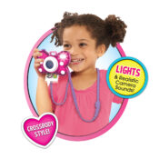 Minnie Mouse lands in the roleplay aisle for plenty of pretend play fun! Disney fans will love the Minnie Mouse Picture Perfect Camera, featuring lights and sounds effects! Plus, kids can call Minnie with the Minnie Mouse Phone Set!