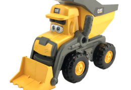 Interacting with the Cat® Junior Crew™ Tipper will bring him to life with motorised expressions and 50+ sounds. With a number of sensors on board Tipper will know what you're doing and will switch the conversation to match!